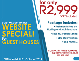 Website Special for Guest Houses | Prieska Accommodation, Business & Tourism Portal